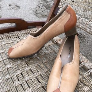 Low heeled tastefully put together leather shoes